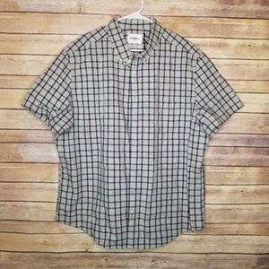 NWOT men's Goodfellow plaid button up shirt